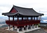 웅장한 모습 드러낸 대전 식장산 한옥형 전망대